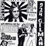 Show Flyer for Gilman